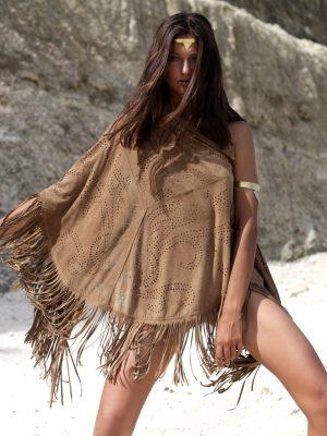 Desert Wanderer Suede Shawl