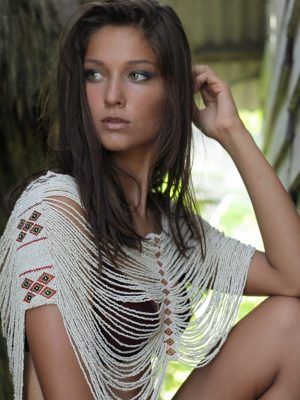 Native Warrior Beaded Top