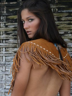Wild Heart Suede Poncho