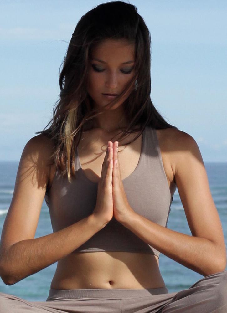 Dharma Yoga/Lounge Top - Fawn