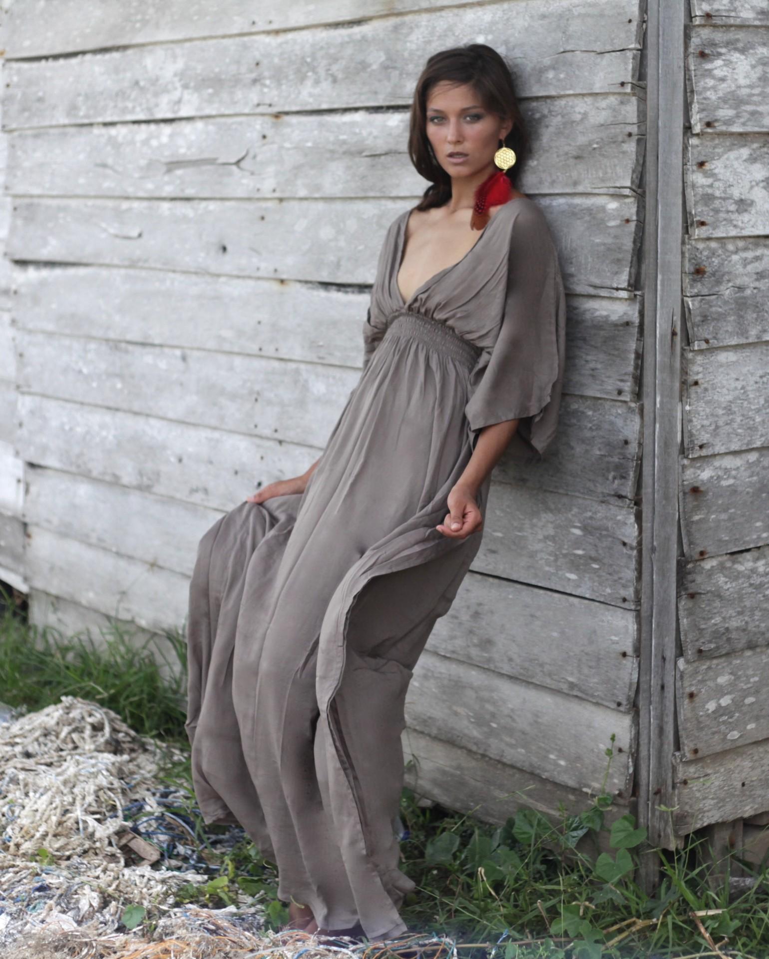 Castaway Dress - Stone - House of Dharma 6119b348c